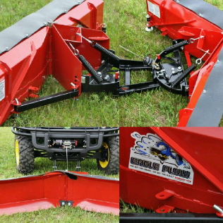 "ATV 66"" V Plow W/ 3500lb WINCH"